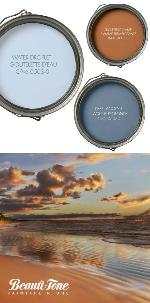 Paint a room in the colours of a summer sunset at the lake. Breathtaking beauty for tranquill living.