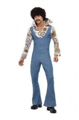 Costume uomo anni 70 Hippie marrone