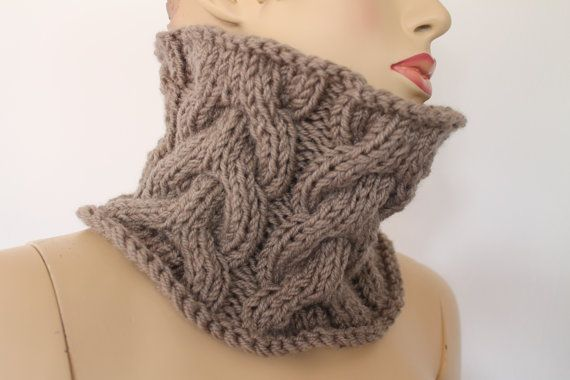 Hand Knitted Cable Cowl for Men Women Neck Warmer ♥ by ...