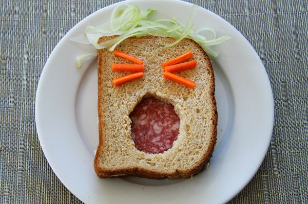 Want your kids to eat a healthy sandwich? Try giving them these four fun and easy-to-make sandwich faces.