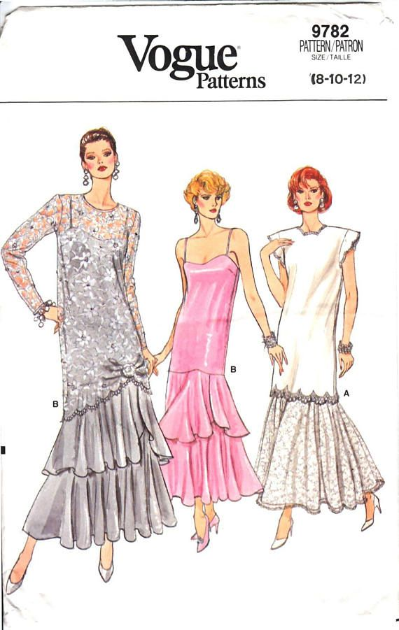 Great formal dress pattern for a wedding party or mother of the bride.