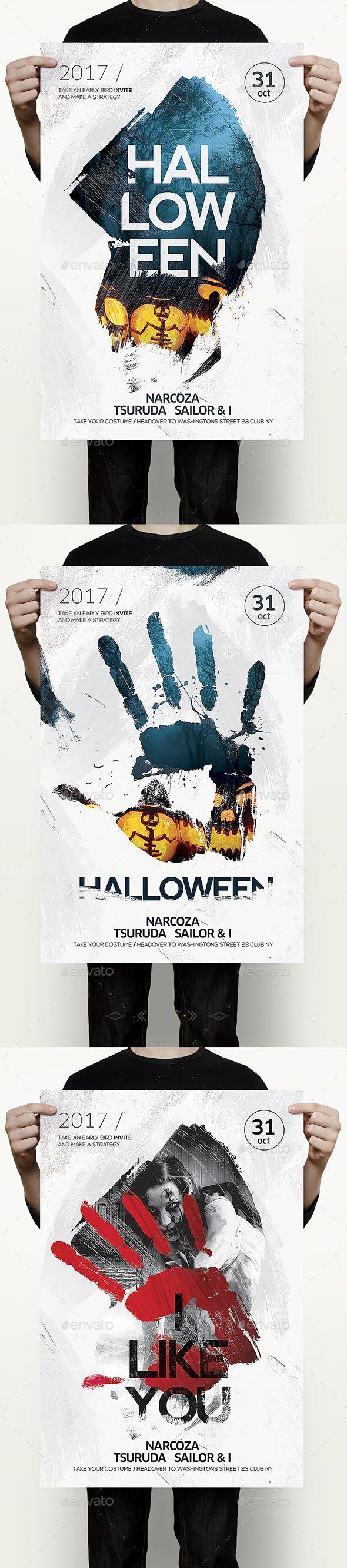 Halloween Flyer  — PSD Template #halloween Night #light • Download ➝ https://graphicriver.net/item/halloween-flyer/18145549?ref=pxcr