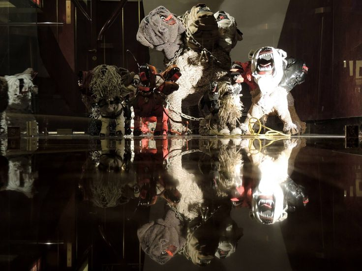"""Front general aspect of Johnston Foster's """"Lucky Dog"""" with reflection at New Hotel, Athens, 2014. Photo credits: Megakles Rogakos, M.A., M.A. Art Historian & Exhibition Curator.  Special thanks to The Blender Gallery.  #special #art #gallery #NEW #hotel #Athens"""