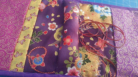 Sewing Caddie - Oriental print Sewing Caddie - Embroidery Sewing Caddy - Tapestry Sewing Caddy - Needlepoint Caddie - Armchair Sewing Caddy
