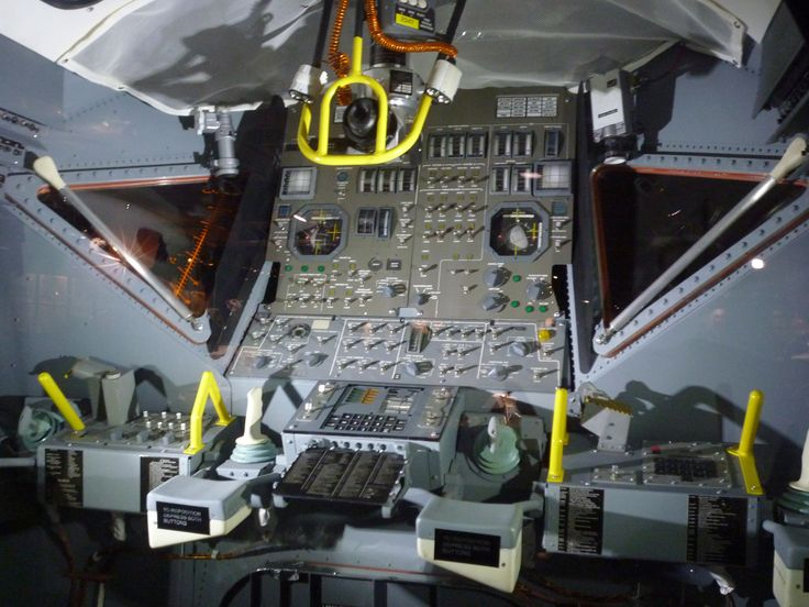 LEM Flight Deck. Apollo Program. (Inspiration for the LM in my new novel, The Artemis Project. (-RJ Pike))