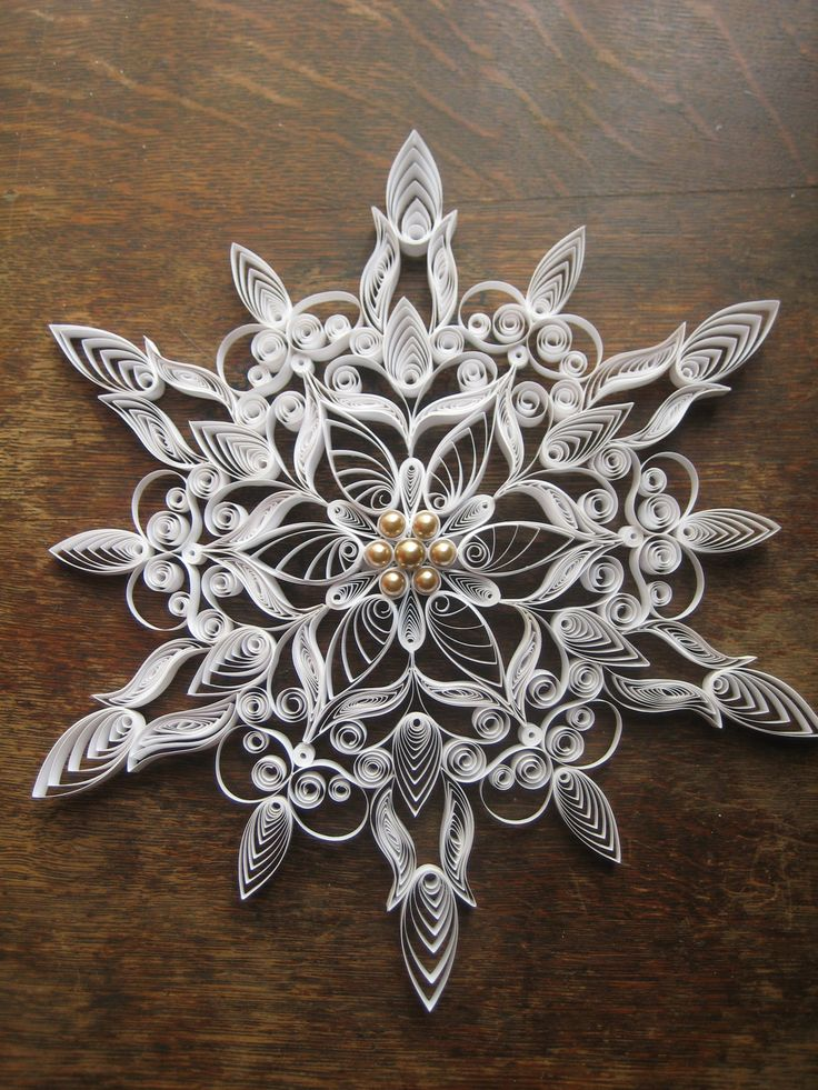 Quilling Snowflakes from Etsy