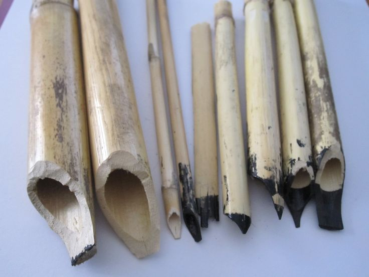 Reed Pen | Home-made reed and bamboo pens.