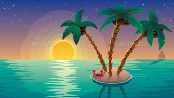 Small Island Landscape Subset Small Island Cute Designs To Draw Landscape