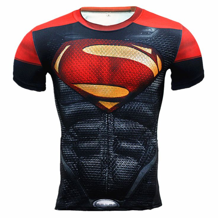 Sommer 2016 Neuesten Männer Compression Hemd Fitness Superman Punisher 3D T-shirt Männer Bodybuilding Basisschicht Crossfit T-Shirt