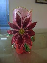 Resultado de imagen para decoracion navideña en botellas plasticas