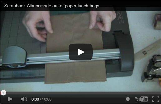 Scrapbooking: album foto con i sacchetti di carta