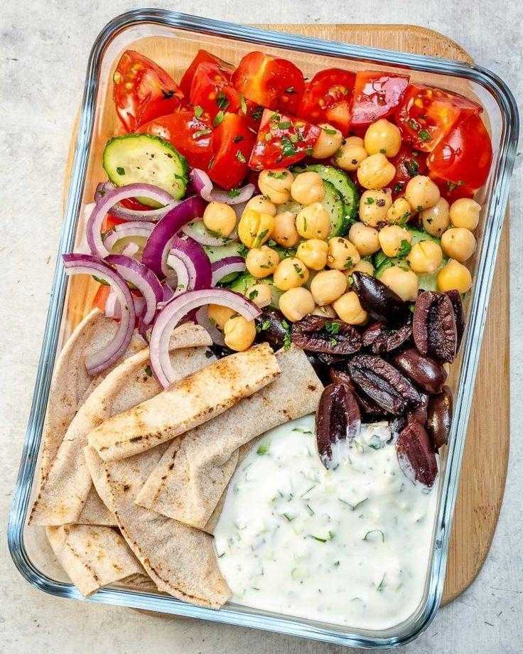 Griechisches Salat-Brotdose-sauberes Rezept   – The BEST Meal Prep Recipes