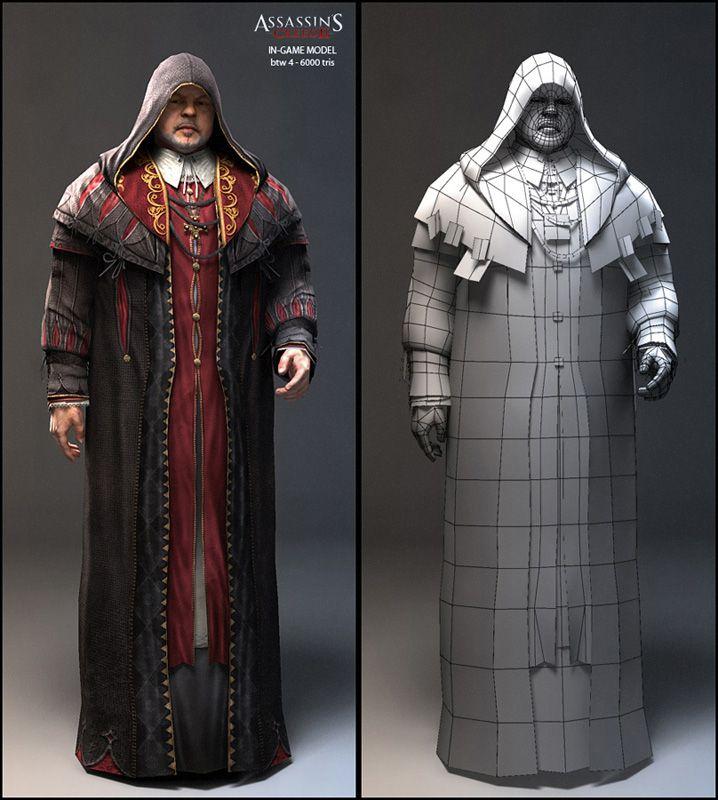 Assassin's Creed 2 | Nicolas Collings character modeler portfolio
