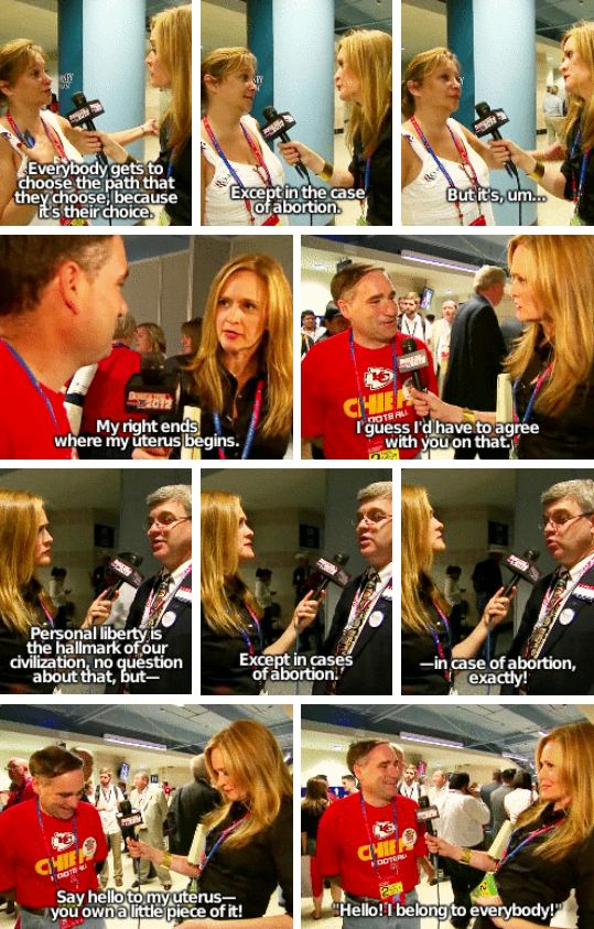 And when she interviewed anti-abortionists on The Daily Show: | 22 Times Samantha Bee Was Fucking Brilliant