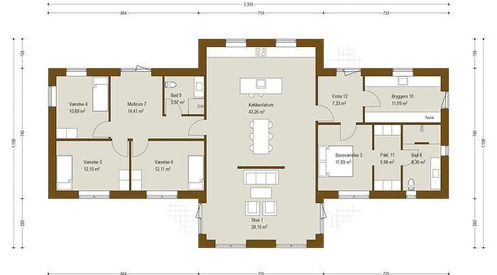 Designhus 205 m² - få inspiration til spændende nyt hus - Danhaus