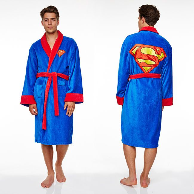 Superman dressing gown FLEECE / bathrobe (bath robe gowns, clothing) in Clothes, Shoes & Accessories, Men's Clothing, Nightwear | eBay
