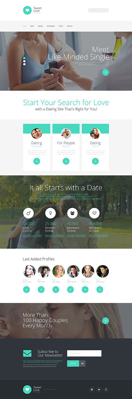 Dating •               Espresso Web Inspiration at your Coffee Break!          Responsive JavaScript Animated • Template #56026