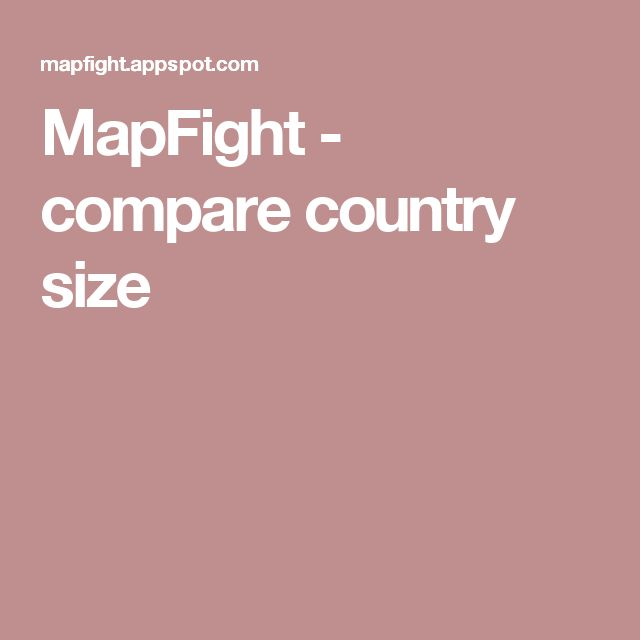 MapFight - compare country size