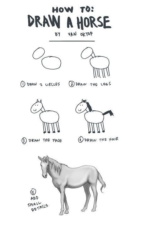 Every Book About Drawing Horses I Got As A Child Was Exactly Like This