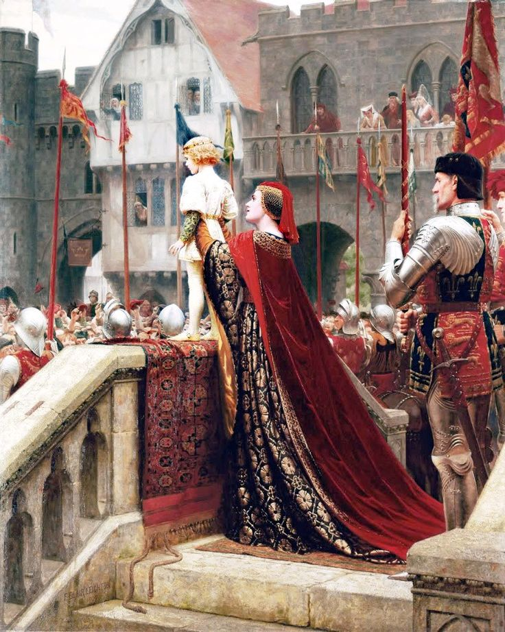 1904 illustration by Edmund Blair Leighton - Young Henry Tudor as described in Shakespeare's Henry VI