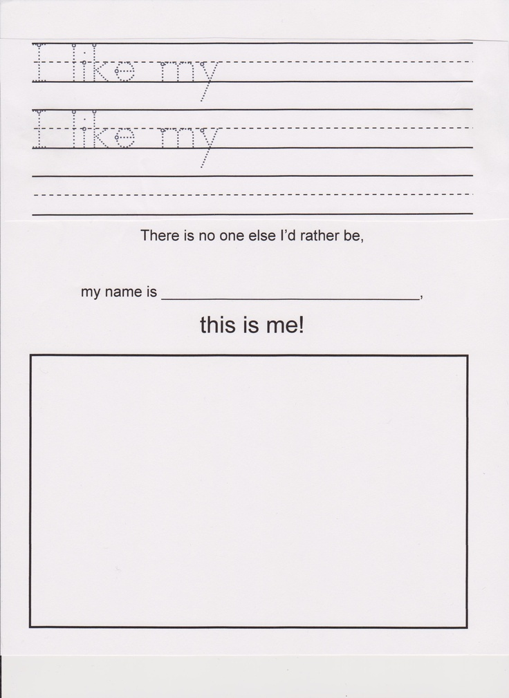 kindergarten lesson  with the book  u0026quot i like myself u0026quot  by