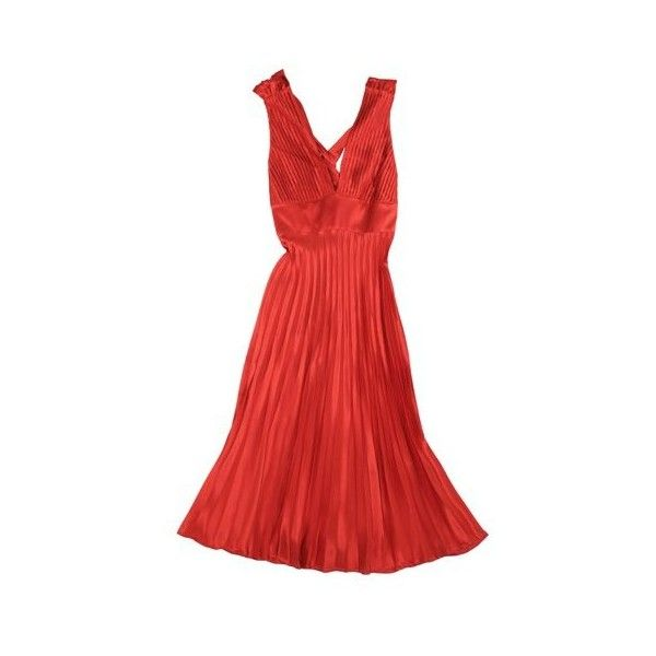 Abiti Sasch : Abito in raso plissè. - Leiweb ❤ liked on Polyvore featuring dresses, vestidos, abiti and robe