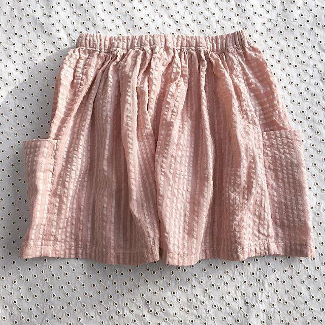 A skirt for my niece- pattern purl soho. On its way to Australia. #purlsoho #purlsohobusyhands #fabricsgalorelondon #sewersofinstagram #pink #cotton #pockets