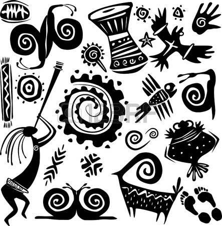 Elemente für die Gestaltung der primitiven Kunst
