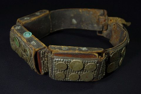 Hunter belt with silver coins - West Timor -  early-middle 20th C