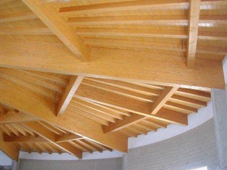 tetto in legno lamellare - Padova