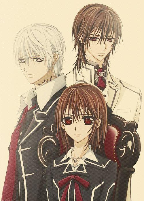 Vampire Knight- Good romance/fantasy anime :) However, kinda weird and twisted :P