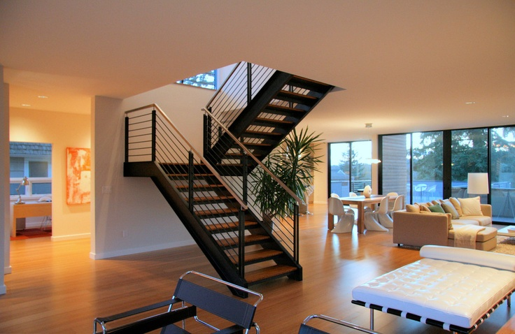 Steel staircase - modern - staircase - seattle - ALCOVA architecture