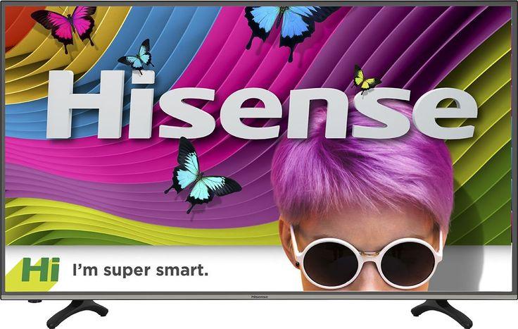 """Hisense - 43"""" Class (42.5"""" Diag.) - LED - 2160p - Smart - 4K Ultra HD TV - Black"""