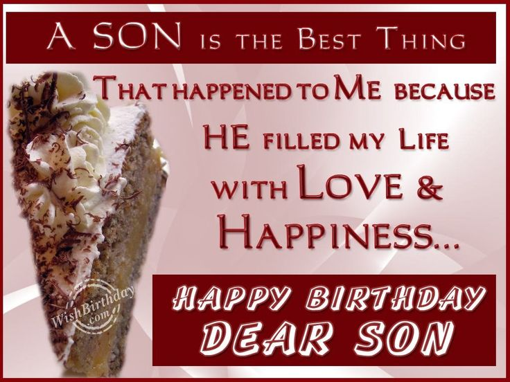 Wishing You Happy Returns Of The Day Son
