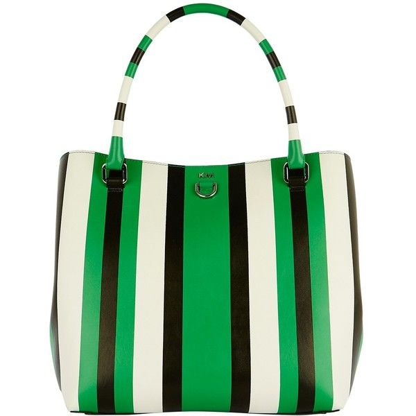 Karen Millen Stripe Bucket Bag, Green/Multi ($140) ❤ liked on Polyvore featuring bags, handbags, shoulder bags, bucket bag, green shoulder bag, bucket shoulder bag, green purse and purse shoulder bag