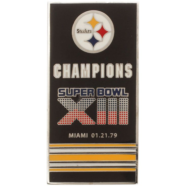 Pittsburgh Steelers Super Bowl XIII Banner Pins - $7.99