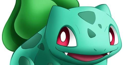 Vector e imagen normal de Bulbasaur del juego Pokémon Go con los brazos delante del cuerpo. Descarga gratis.