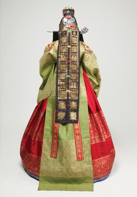 Korea Traditional Wedding Hanbok--back