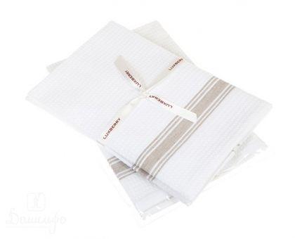 Купить набор вафельных полотенец SANDWICH белый/натуральный (2шт) от производителя Luxberry (Португалия)