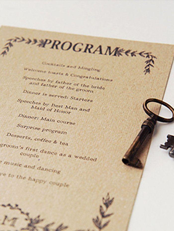 17 Unieke (en gratis!) Afdrukbare trouwprogramma's