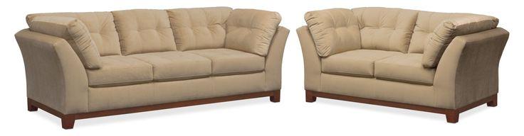Sebring Sofa And Loveseat Set - Cocoa