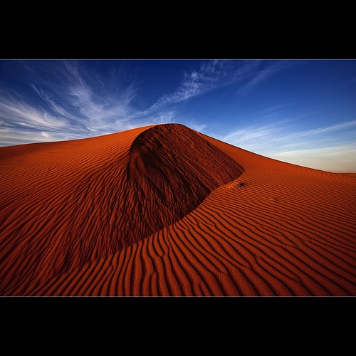 The Big Red is located 35km west of Birdsville QLD -Australia. The Big Red is the first and highest of 1100 dunes in the Simpson Desert, which run north-south for hundreds of kilometres.