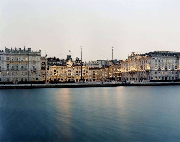 Trieste, Italy - I just the left theather, eating ice cream, looking at the sea. It's windy today - JK