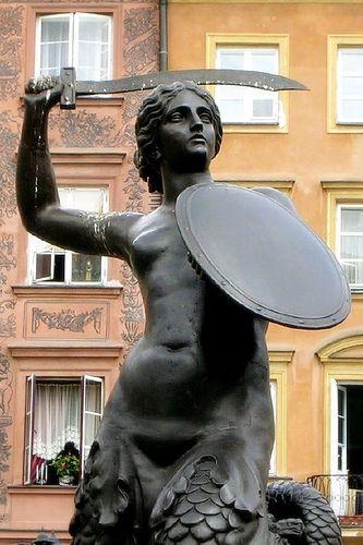 Syrenka Warszawska  this is the Polish mermaid that protects Warsaw