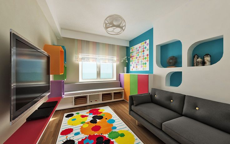Colourful play room