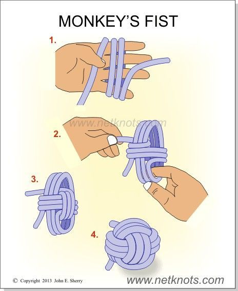 How to make a Monkey's Fist. Could I make one from Zpagetti yarn? … …                                                                                                                                                     Más