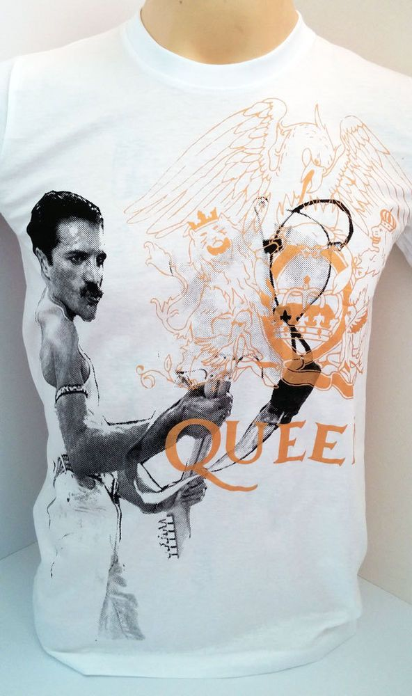 QUEEN rock band Freddie Mercury with guitar t shirt size S M L XL #Handmade #PersonalizedTee