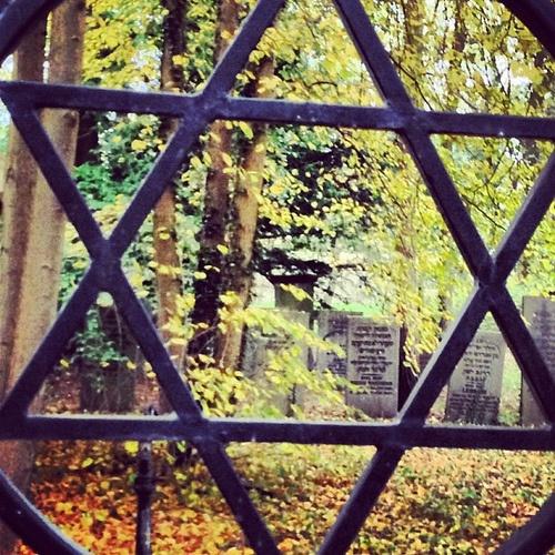 Old Jewish cemetery in the Dutch dunes near Haarlem