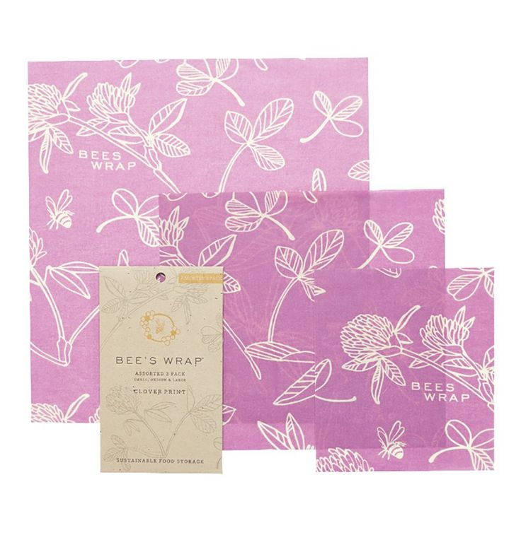 Bee's Wrap Sustainable Food Storage Mimi's Purple Assorted Cling Film Substitute: Amazon.co.uk: Kitchen & Home