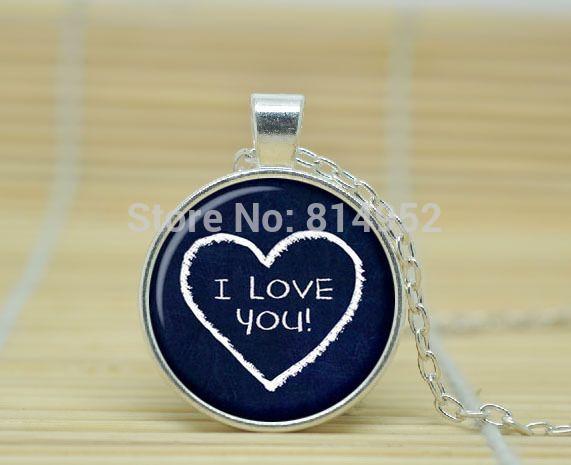 1 шт. любовь в форме сердца ожерелье в форме сердца любовь подарки для пары для ее я люблю тебя украшения из стекла кабошон ожерелье A2186